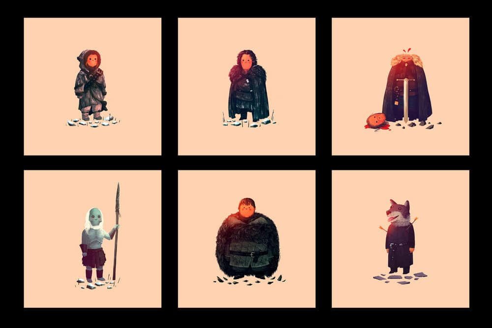 Game of Thrones Prints by Olly Moss Set 1