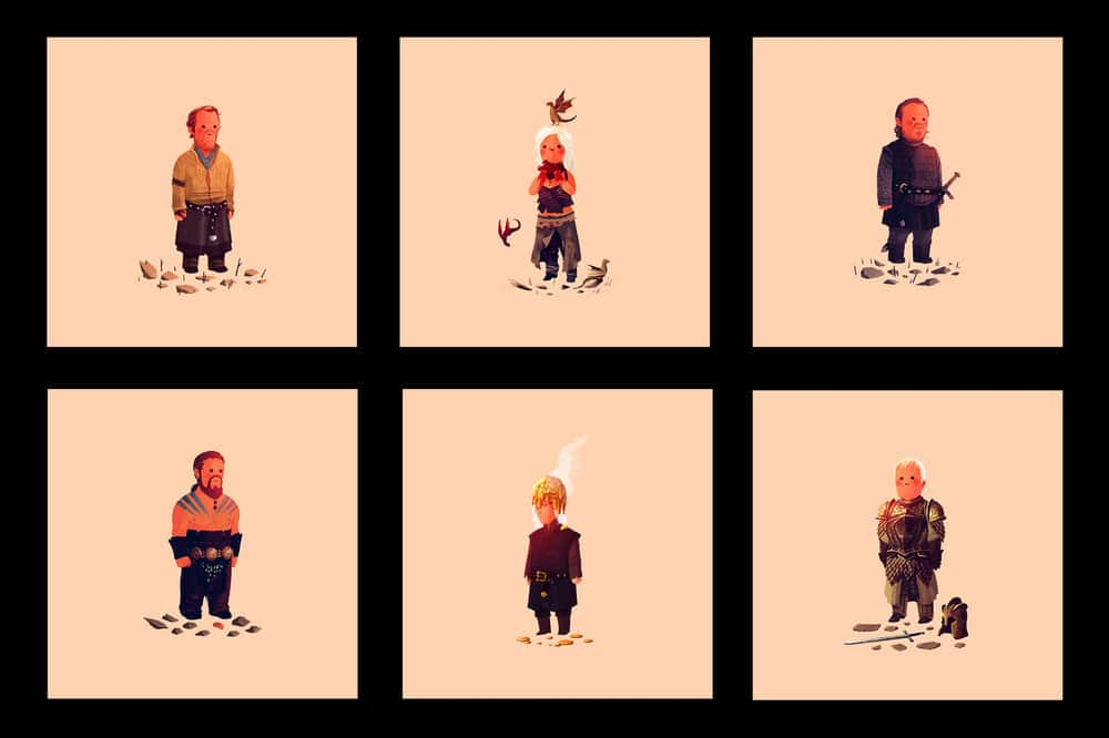 Game of Thrones Prints by Olly Moss Set 2