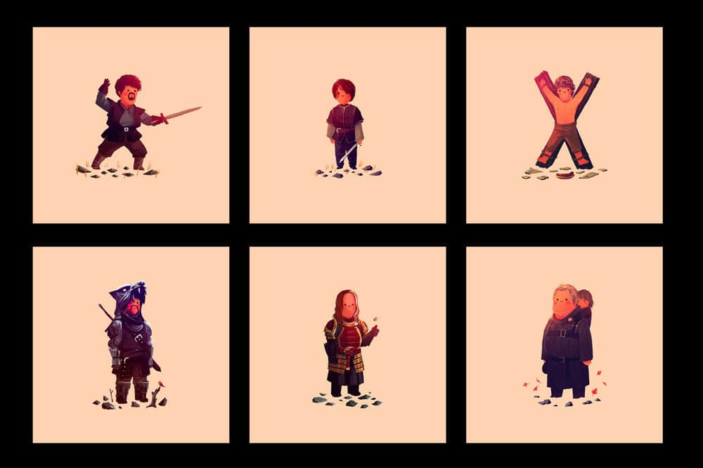 Game of Thrones Prints by Olly Moss Set 3