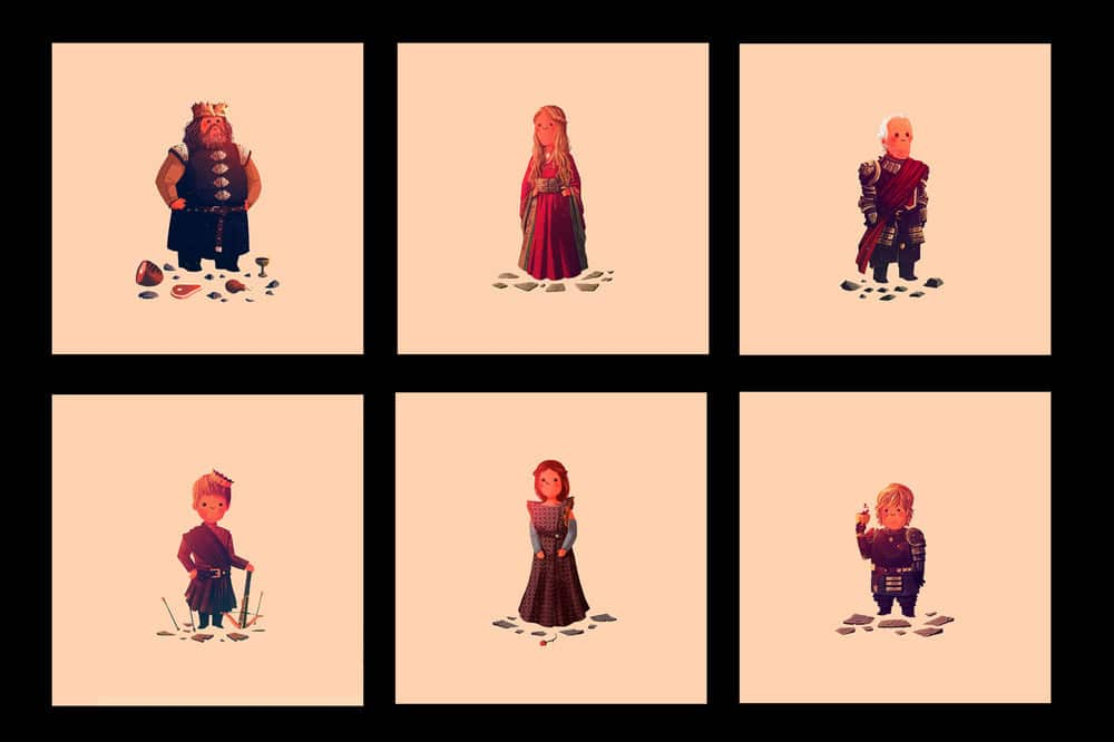 Game of Thrones Prints by Olly Moss Set 4