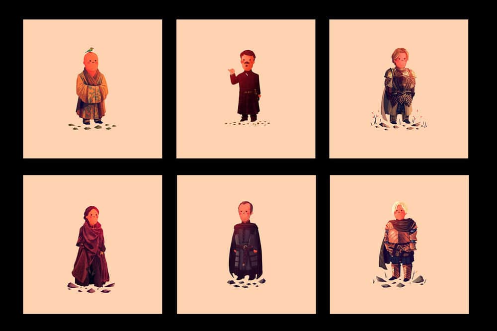 Game of Thrones Prints by Olly Moss Set 5