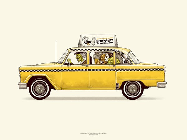 Ghostbusters Cab Print
