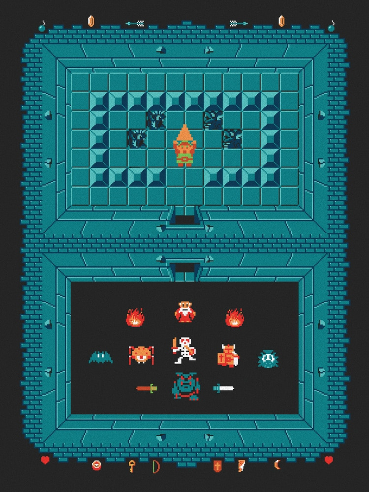 The Legend of Zelda: Level One Print