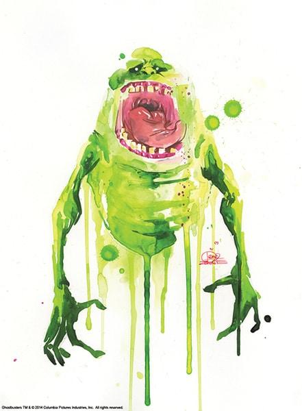 Ghostbusters Slimer Print