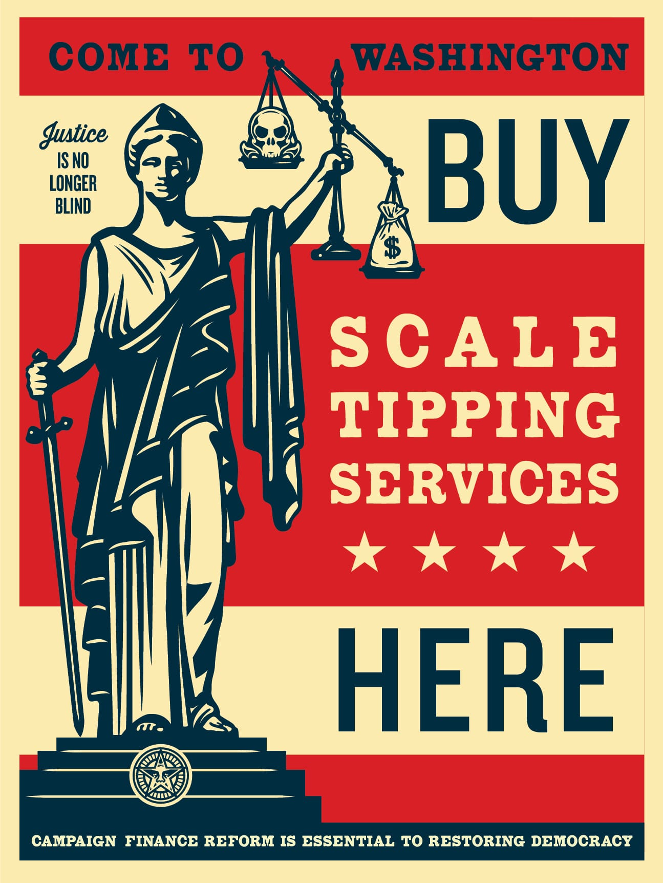 Scale Tipping Services by Obey