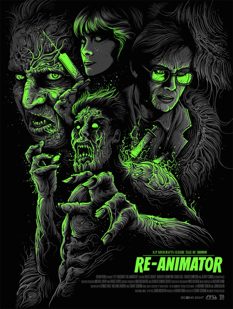 Re-Animator Movie Variant Print by Dan Mumford