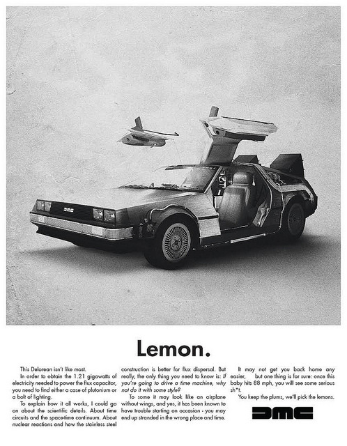 Lemon Back to the Future Print