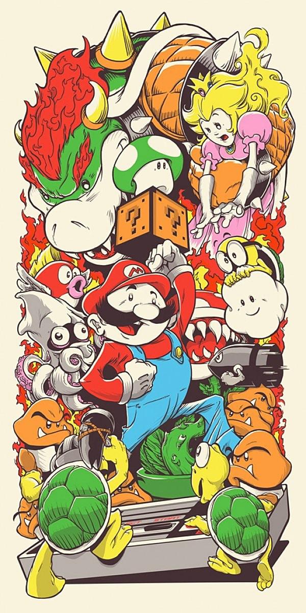Super Mario by Joshua Budich