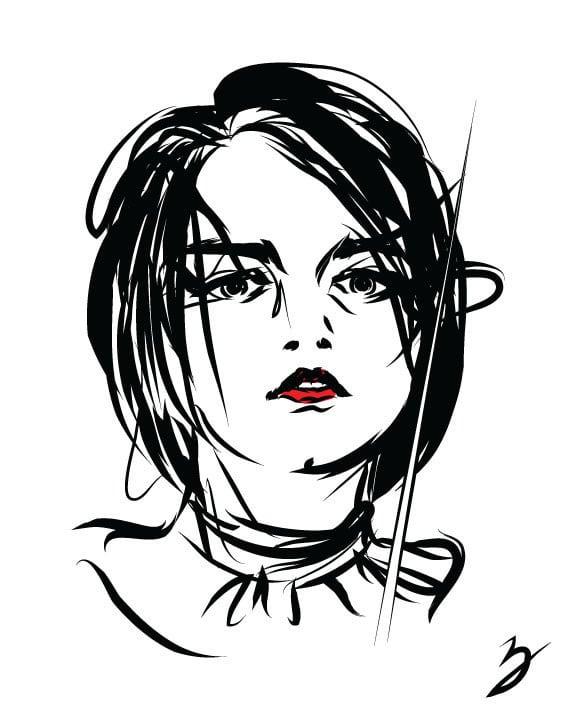 Arya Stark GOT by Peter Bresse