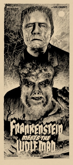 Frankenstein Meets the Wolfman Movie Poster