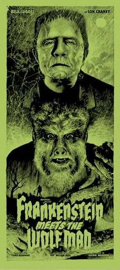Frankenstein Meets the Wolfman Variant Movie Poster