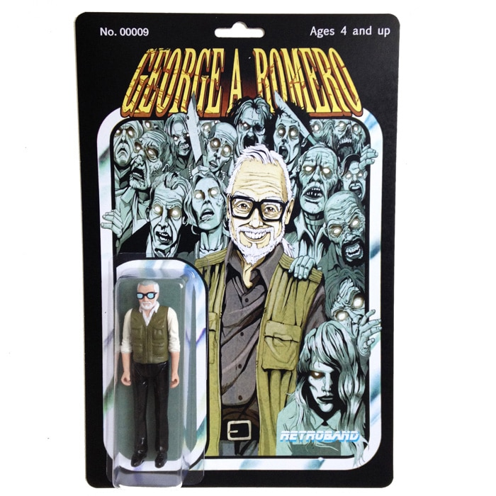 George A. Romero Action Figure Package Front