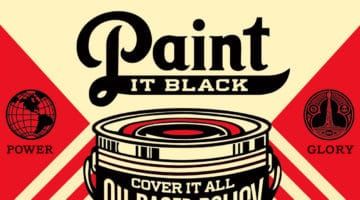 Paint it Black Hand Print by Obey