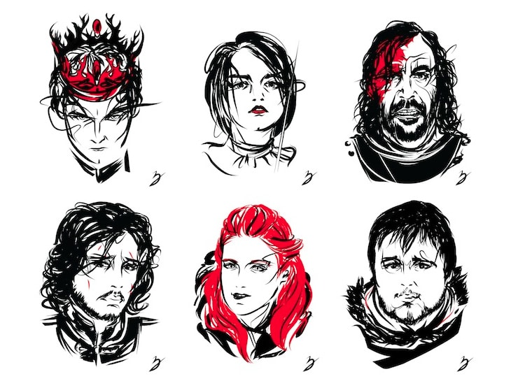Game of Thrones Character Profiles by Peter Breese