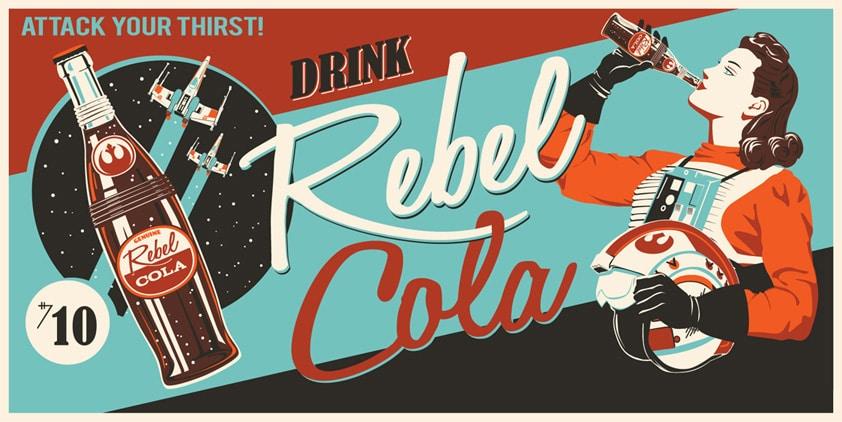 Star Wars Rebel Cola Print