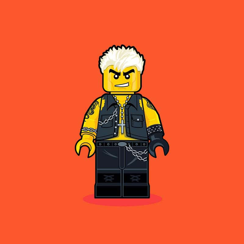 Billy Idol LEGO Minifigure