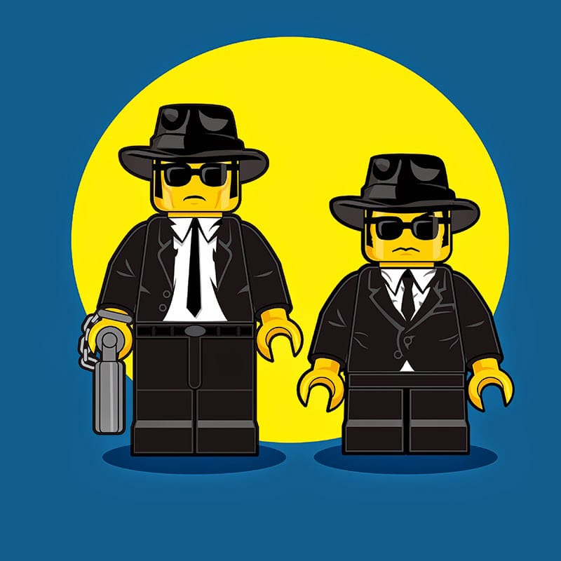 Blues Brothers LEGO Minifigure