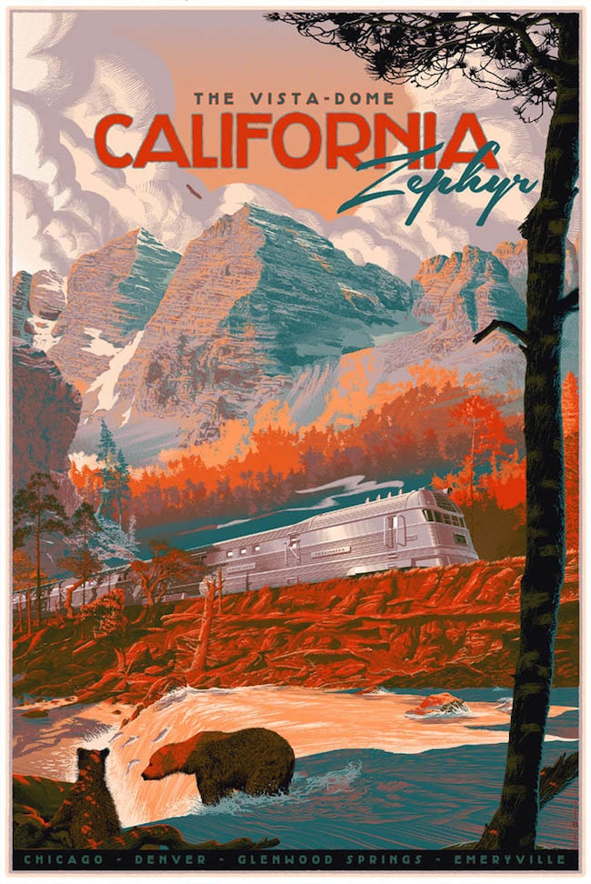 The Zephyr - California Print by Laurent Durieux