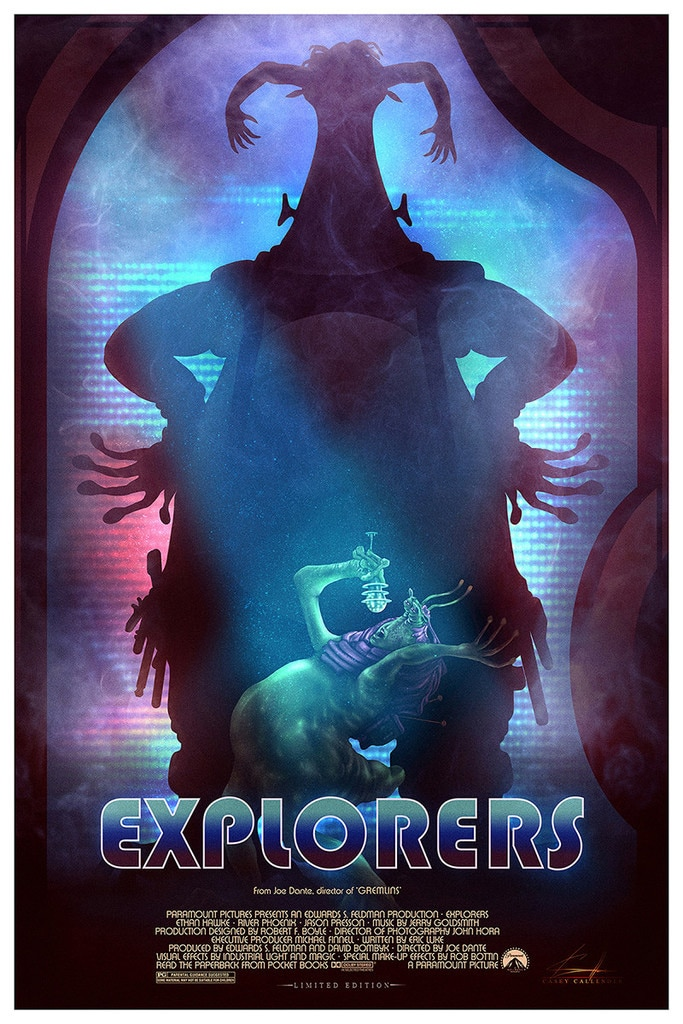 Explorers Alien Singing Movie Poster
