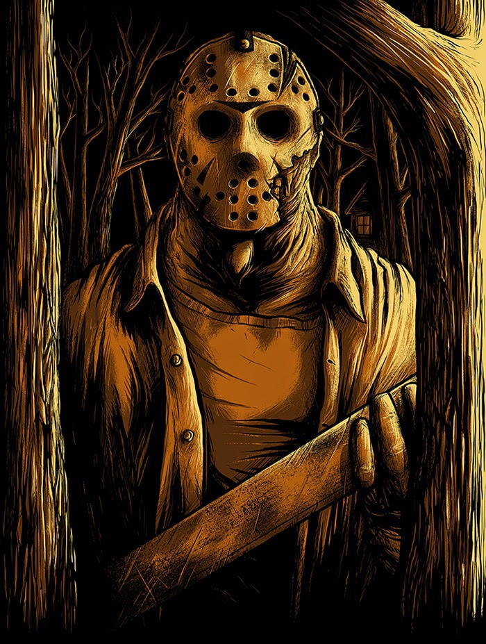Welcome to Camp Crystal Lake Glow in the Dark Print 1