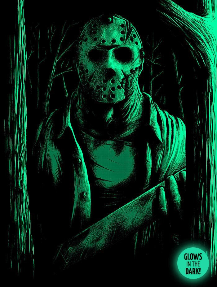 Welcome to Camp Crystal Lake Glow in the Dark Print