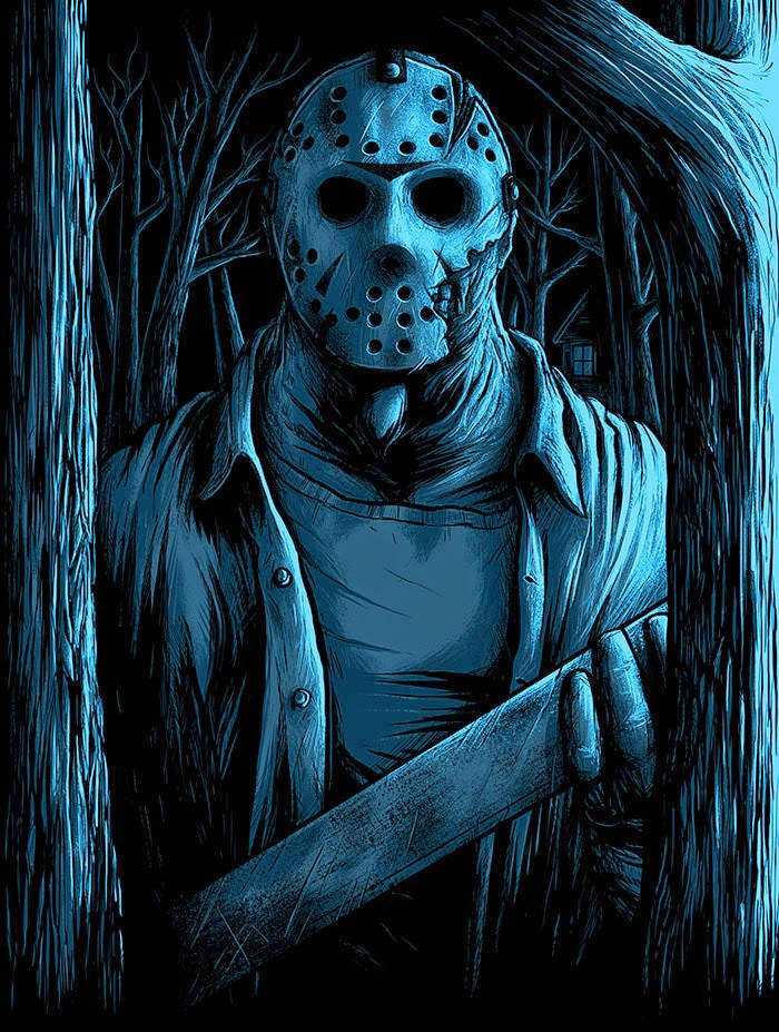 Welcome to Camp Crystal Lake Glow in the Dark Print 2