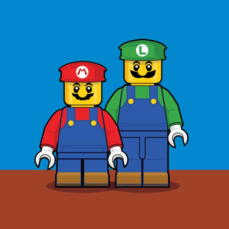 Mario Brothers LEGO Minifigure