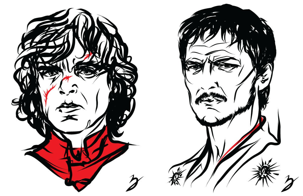 Tyrion Lannister and Prince Oberyn Prints