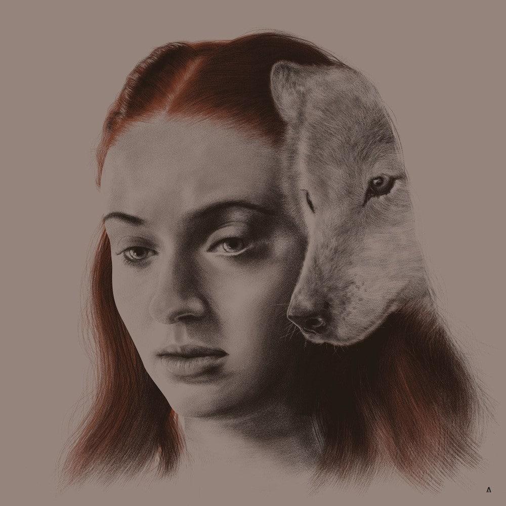 Sansa Stark House Sigil Print