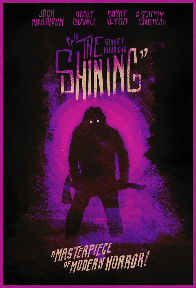 The Shining Move Poster Purple