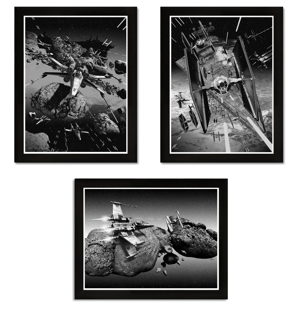 Star Wars X-Wing and Tie Fighter Prints