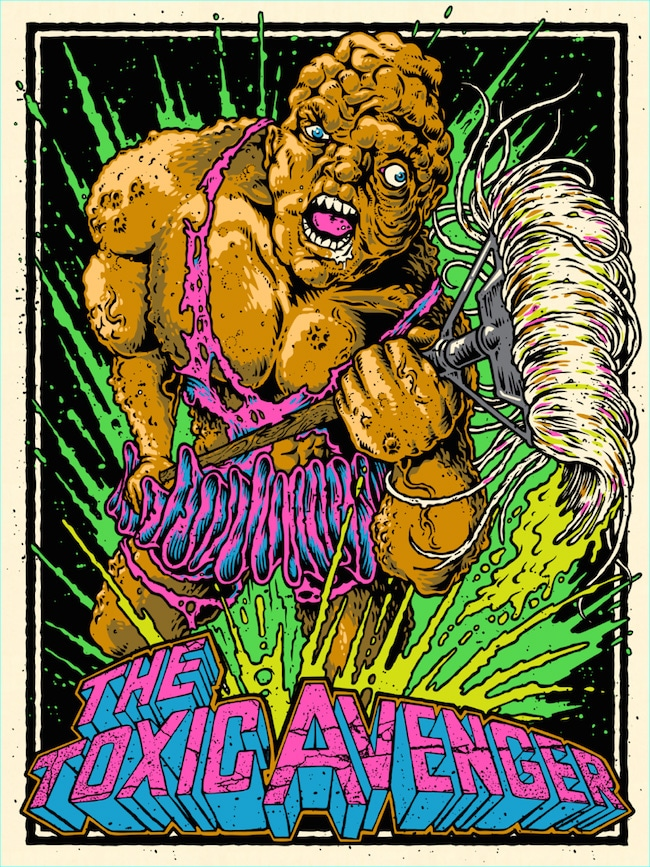 Toxic Avenger Movie Poster Print by Horsebites