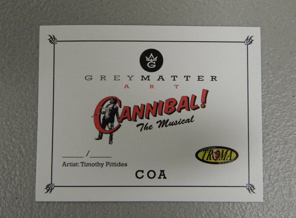 Cannibal the Musical Print Certificate of Authenticity