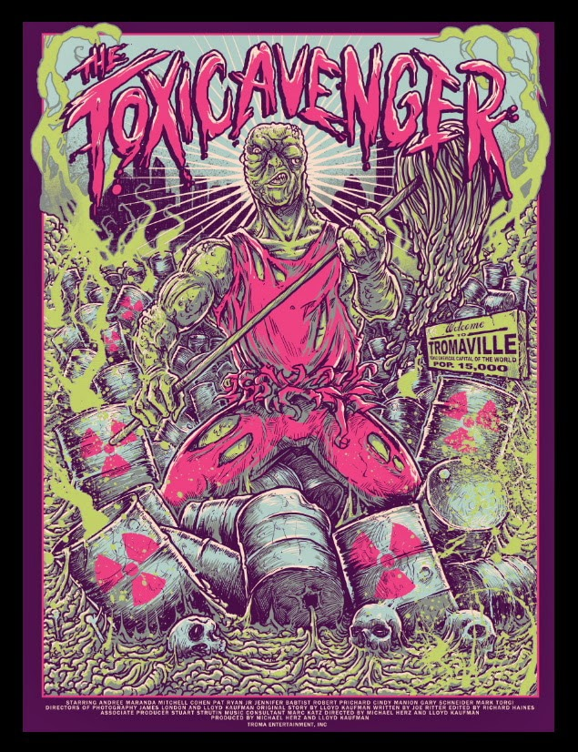 Troma Toxic Avenger Movie Poster