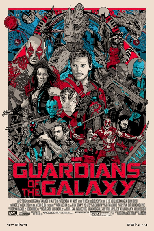 Tyler Stout Guardians of the Galaxy Movie Poster
