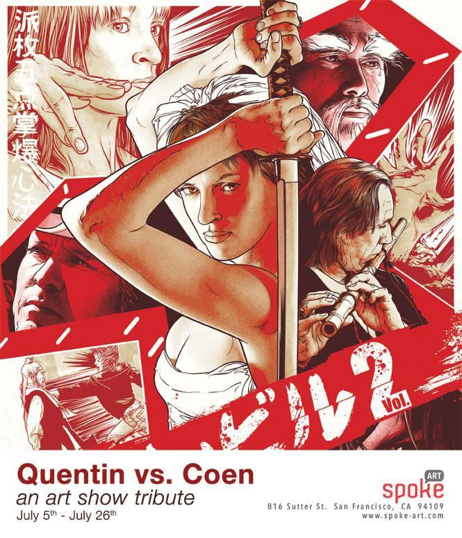 Quentin vs. Coen Group Art Show from Spoke Art