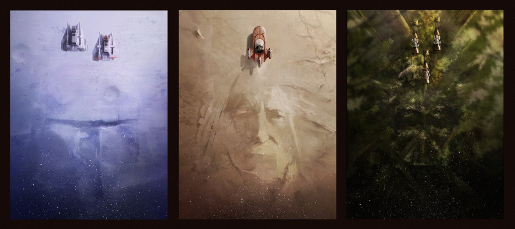 Star Wars Print Set by Andy Fairhurst