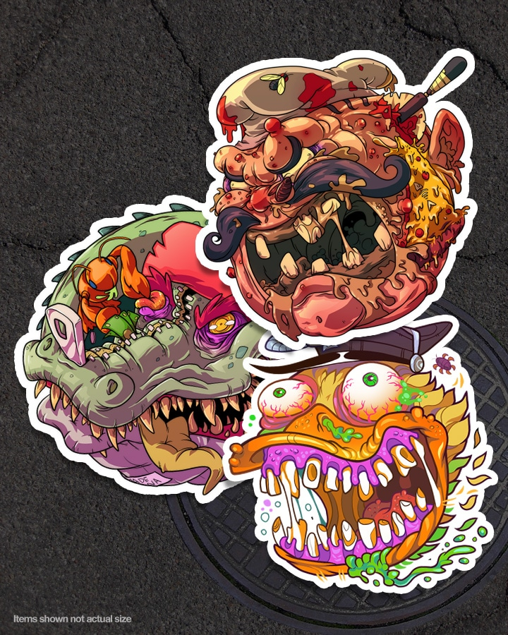 TMNT Turtle Kong Box Set Stickers 1