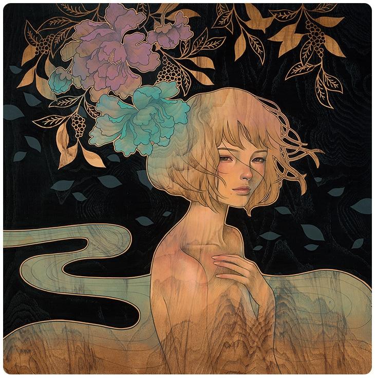 Hirari Hirari Audrey Kawasaki Painting 6