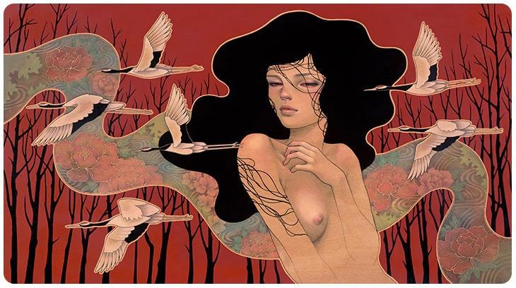 Hirari Hirari Audrey Kawasaki Painting 5