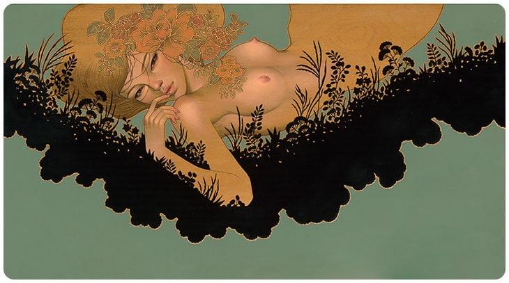 Hirari Hirari Audrey Kawasaki Painting 4
