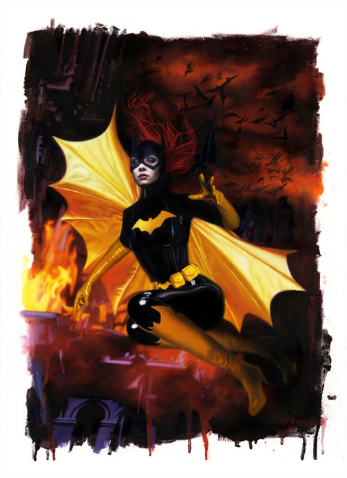 Bat Girl 2 Print by David Stoupakis