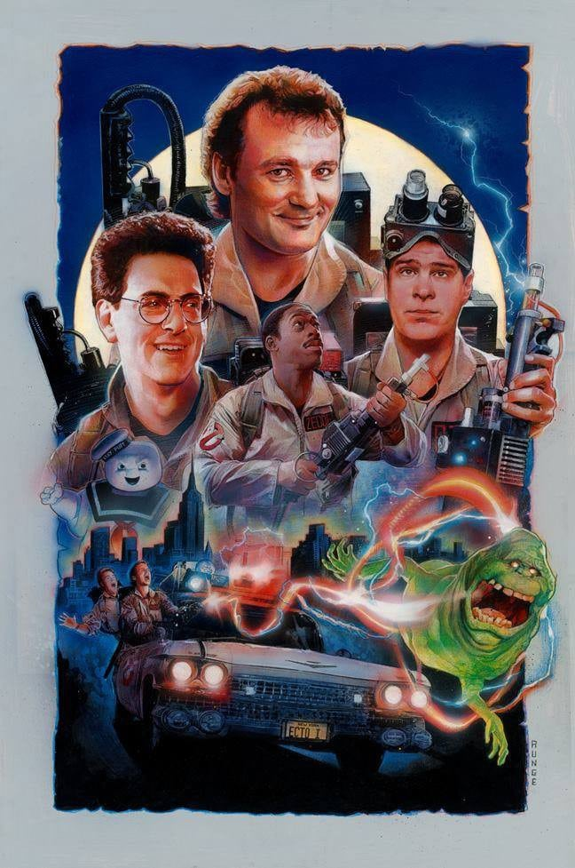 Ghostbusters Group Movie Poster
