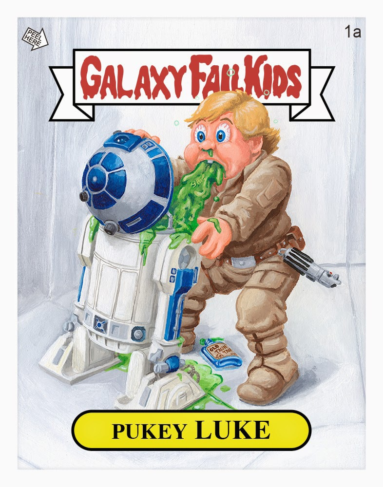 Garbage Pail Kids Star Wars Print