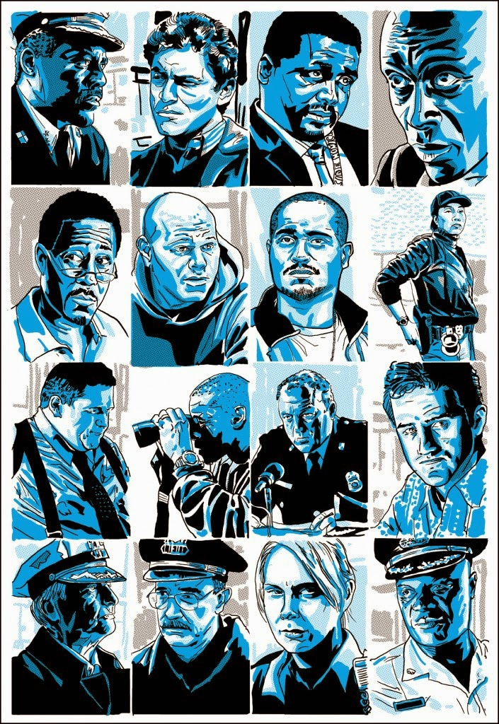 The Wire Characters Print