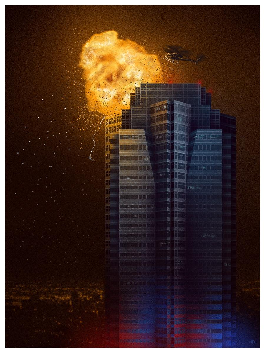 Die Hard Movie Poster Print