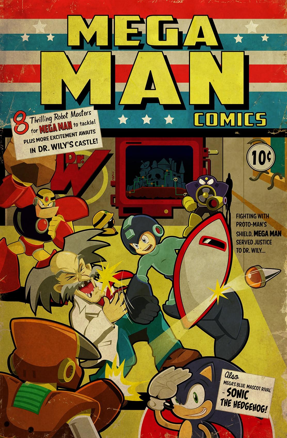 Mega Man Comic Print