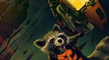 Guardians of the Galaxy Rocket Raccoon Print