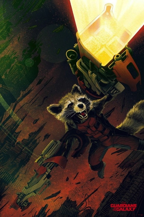 Guardians of the Galaxy Rocket Raccoon Variant Print