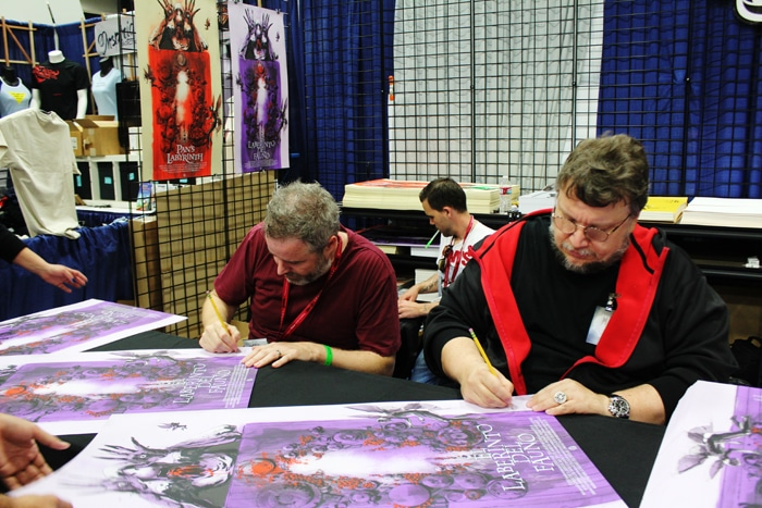 Guillermo del Toro & Jock signing the Pan's Labyrinth print